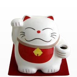 印鑑ケース・朱肉・印鑑関連商品 : 招き猫印鑑入れ